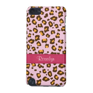 Name animal leopard print pink brown ipod case iPod touch (5th generation) covers