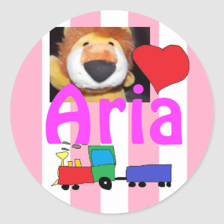 Name Aria Personalized Stickers