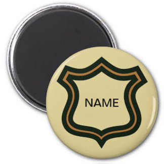Name Badge, add text Magnet