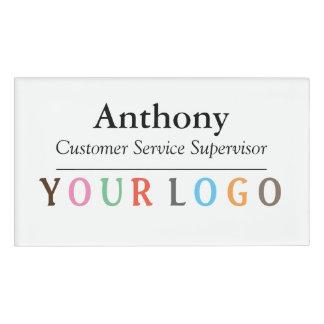 Name Badge Magnet Custom Logo Employee Staff Large