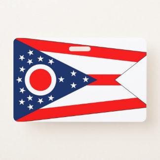 Name Badge with flag of Ohio State, USA ID Badge
