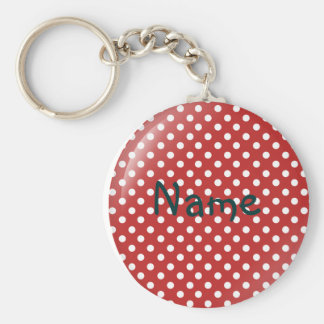 Name Basic Round Button Key Ring