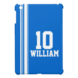 Name blue white sport name number ipad mini iPad mini covers
