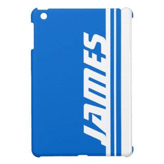 Name blue & white stripe sport ipad mini iPad mini case