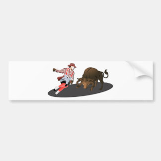 NAME: Clown and Bull 1-No-Text Bumper Sticker