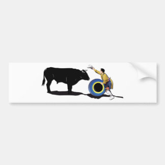 NAME: Clown and Bull-No-Text Bumper Sticker