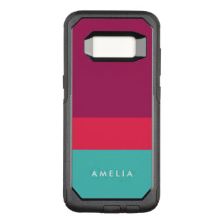 Name Color Block Purple Pink Turquoise OtterBox Commuter Samsung Galaxy S8 Case