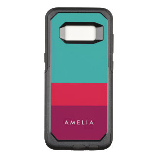 Name Color Block Turquoise Pink Purple OtterBox Commuter Samsung Galaxy S8 Case