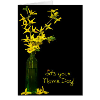 Name Day Bouquet Card