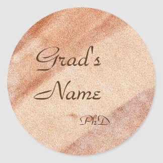 Name+Degree Template Graduation Sticker