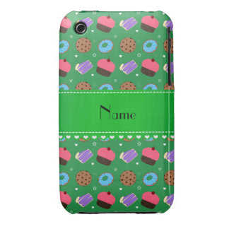 Name green cupcake donuts cake cookies iPhone 3 Case-Mate cases