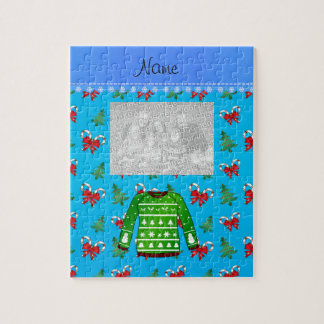 Name green ugly christmas sweater blue candy canes puzzles