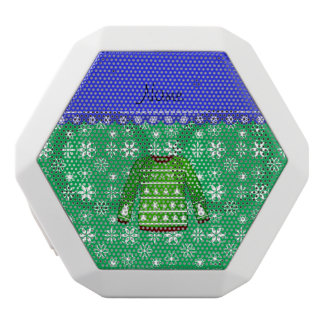 Name green ugly christmas sweater green snowflakes
