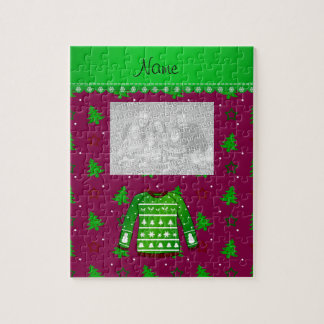 Name green ugly christmas sweater plum trees stars puzzles