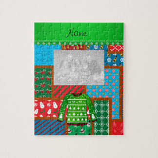 Name green ugly christmas sweater ugly pattern puzzles