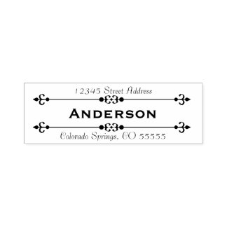 Name in Center Return Address - Self-Inking Stamp