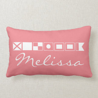 Name In Flags Throw Pillow