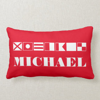 Name In Flags Throw Pillows