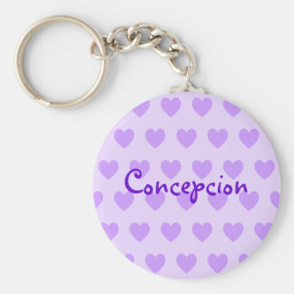 Name in Purple Key Ring