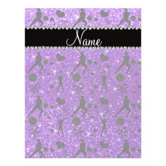 Name indigo purple glitter volleyballs hearts bows custom flyer
