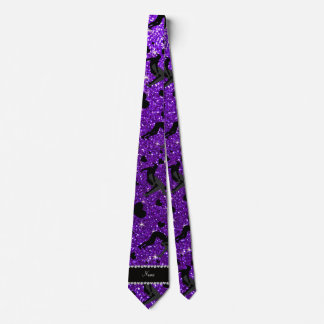 Name indigo purple glitter wrestling hearts bows tie