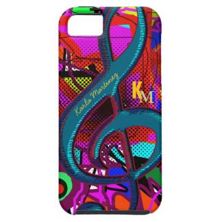 name initials clave musical note tough iPhone 5 case