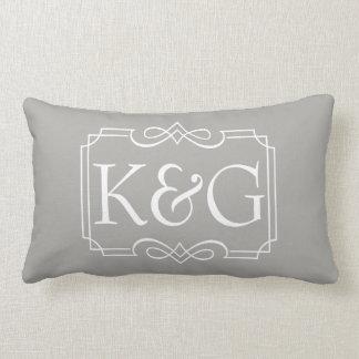 Name initials design lumbar cushion