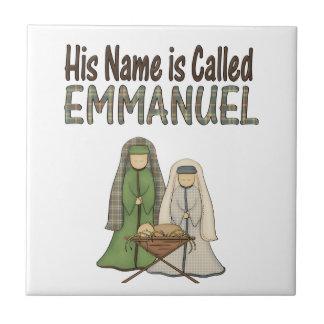 Name is Emmanuel Christmas Ceramic Tile