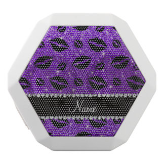 Name lipstick kisses indigo purple glitter white boombot rex bluetooth speaker