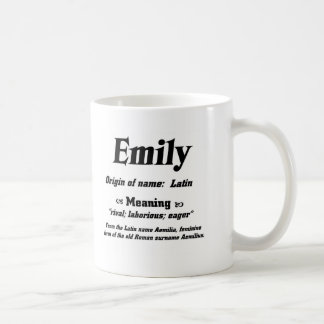Name Meaning 'Emily' Coffee Mug