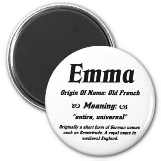Name Meaning 'Emma' 6 Cm Round Magnet