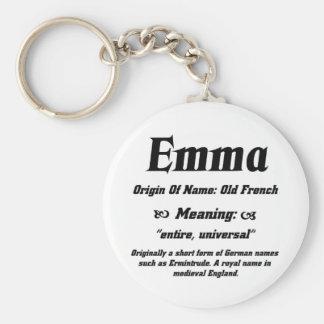 Name Meaning 'Emma' Key Ring
