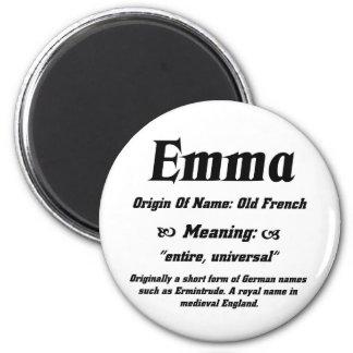 Name Meaning 'Emma' Refrigerator Magnet