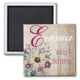 "Name Meaning Magnet, Emma ""Whole & Universal"" Magnet"