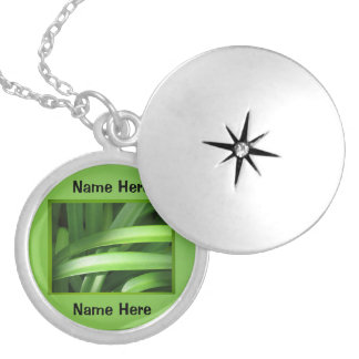 Name Necklace - Lily of the Nile Foliage