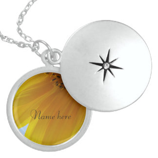 Name Necklace - Yellow Flower