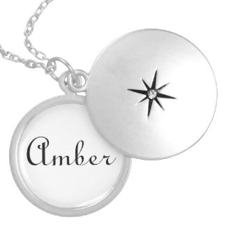 Name Necklaces Amber Gifts silver necklace gift