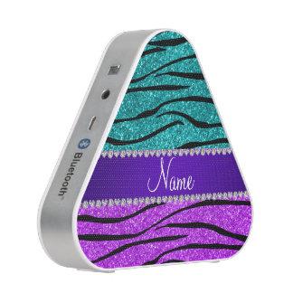 Name neon purple turquoise glitter zebra stripes
