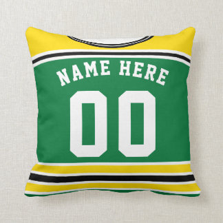 Name & Number Customizable Hockey Jersey Pillow