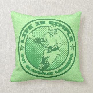 Name & Number Eat Sleep Play Lacrosse Pillow