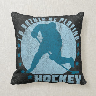 Name & Number Hockey Player Pillow