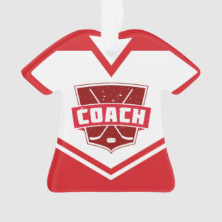 Name & Number Jersey Hockey Coach Ornament