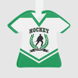 Name & Number Jersey Hockey Dad Ornament