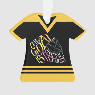 Name & Number Jersey Hockey Goalie Quote Ornament