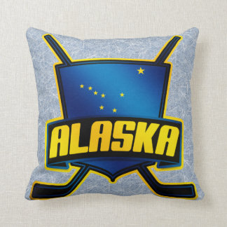 Name & Number Pillow, Alaska Hockey Logo Cushion