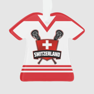 Name & Number Switzerland Lacrosse Ornament