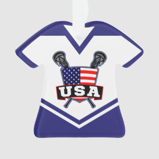 Name & Number USA America Lacrosse Ornament