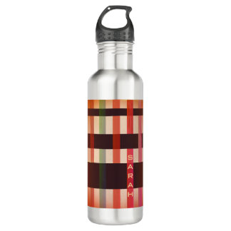 Name or Initials & Vintage Weaving Stripes 710 Ml Water Bottle
