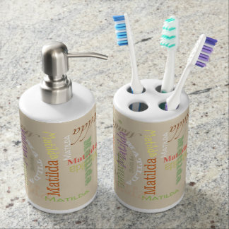 Name or Personalize your Bathroom Decor: Bathroom Set