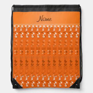 Name orange baby bottle rattle pacifier stork rucksacks
